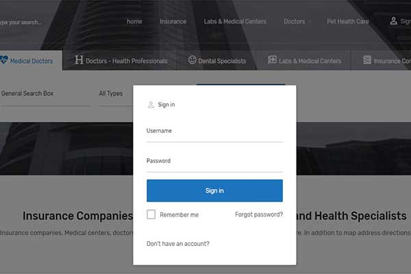 how to register an account and start advertising your practice or